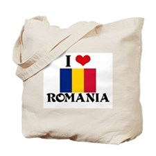 I HEART ROMANIA FLAG Tote Bag