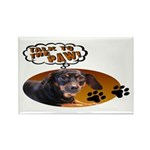 Dachshund Paw Rectangle Magnet