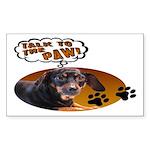 Dachshund Paw Rectangle Sticker
