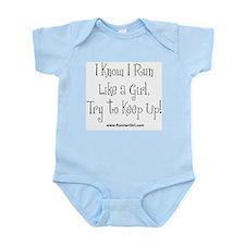 Run Like A Girl Infant Bodysuit