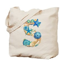Beach Theme Initial S Tote Bag