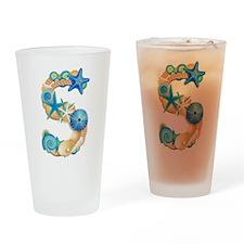 Beach Theme Initial S Drinking Glass