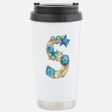 Beach Theme Initial S Travel Mug
