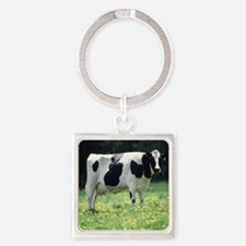 Holstein Meadow Square Keychain