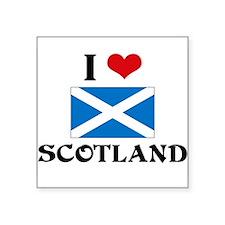 I HEART SCOTLAND FLAG Sticker