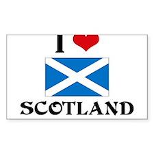 I HEART SCOTLAND FLAG Decal