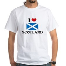 I HEART SCOTLAND FLAG T-Shirt