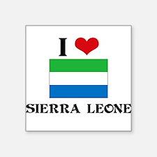 I HEART SIERRA LEONE FLAG Sticker