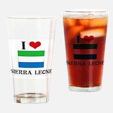 I HEART SIERRA LEONE FLAG Drinking Glass