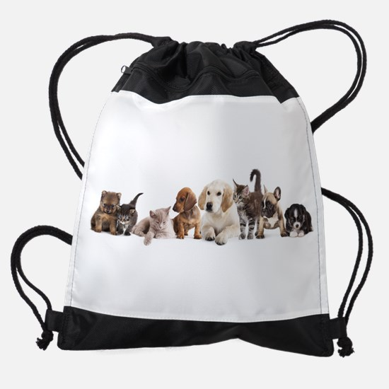 Cute Pet Panorama Drawstring Bag