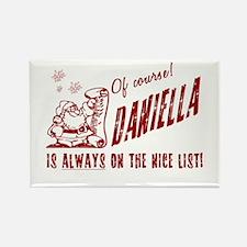 Nice List Daniella Christmas Rectangle Magnet