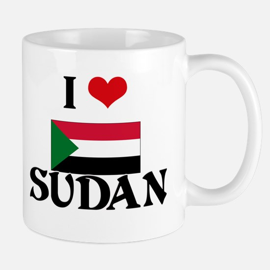 I HEART SUDAN FLAG Mug