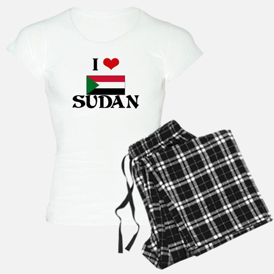 I HEART SUDAN FLAG Pajamas