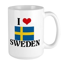 I HEART SWEDEN FLAG Mug