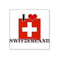 I HEART SWITZERLAND FLAG Sticker
