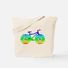 Rainbow fatbike Tote Bag