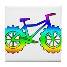 Rainbow fatbike Tile Coaster