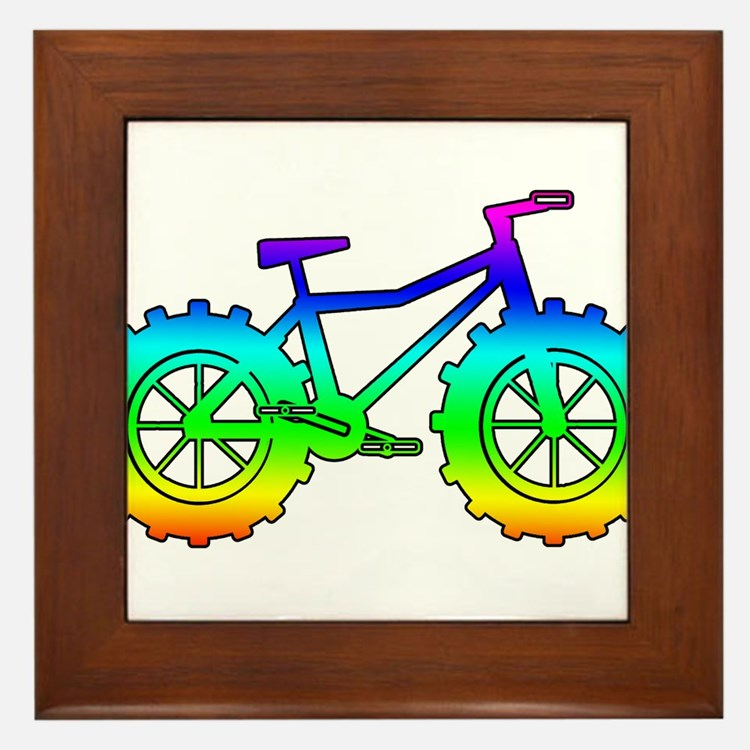 Rainbow fatbike Framed Tile