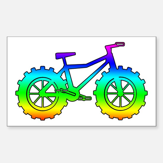 Rainbow fatbike Decal