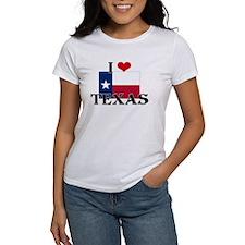 I HEART TEXAS FLAG T-Shirt