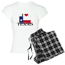 I HEART TEXAS FLAG Pajamas