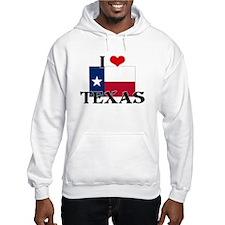 I HEART TEXAS FLAG Hoodie