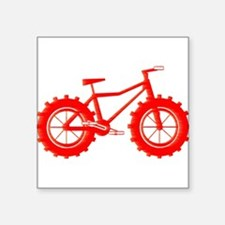 windblown red fat bike logo Sticker