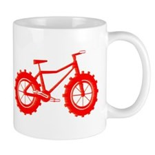 windblown red fat bike logo Mug