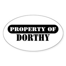 Property of Dorthy Oval Decal