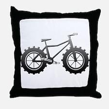 Chrome Fatbike logo Throw Pillow