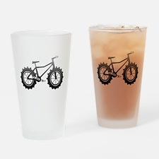Chrome Fatbike logo Drinking Glass