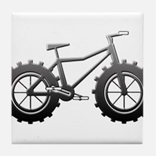 Chrome Fatbike logo Tile Coaster