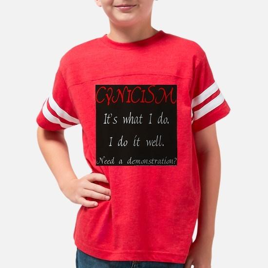 gigglesnips__black_cynicism Youth Football Shirt