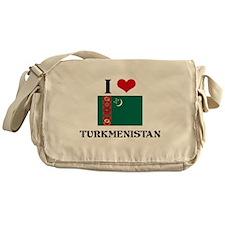 I HEART TURKMENISTAN FLAG Messenger Bag