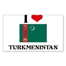 I HEART TURKMENISTAN FLAG Decal