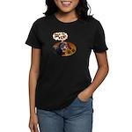 Dachshund Paw Women's Dark T-Shirt