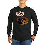 Dachshund Paw Long Sleeve Dark T-Shirt