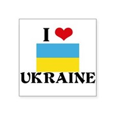 I HEART UKRAINE FLAG Sticker