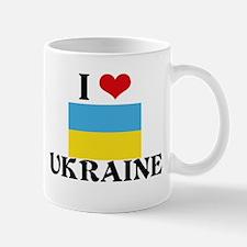 I HEART UKRAINE FLAG Mug