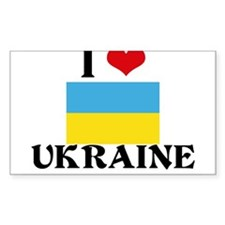 I HEART UKRAINE FLAG Decal