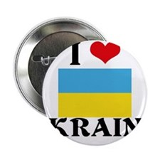 "I HEART UKRAINE FLAG 2.25"" Button"