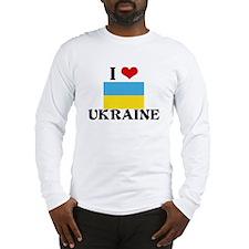 I HEART UKRAINE FLAG Long Sleeve T-Shirt