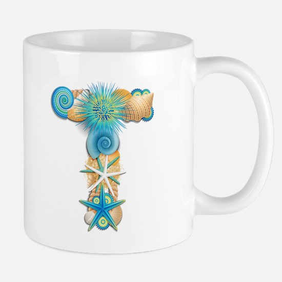 Beach Theme Monogram T Mug