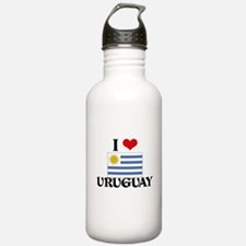 I HEART URUGUAY FLAG Water Bottle