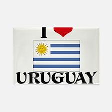 I HEART URUGUAY FLAG Rectangle Magnet