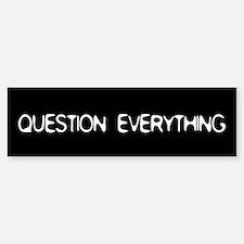 Question Everything Bumper Car Car Sticker