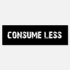consume less Bumper Car Car Sticker