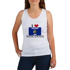 I HEART WISCONSIN FLAG Tank Top