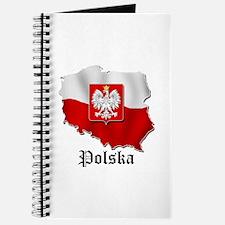 Poland flag map Journal