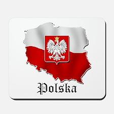 Poland flag map Mousepad